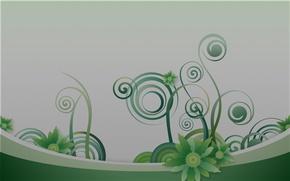 Картинка линии, цветы, фон, завитушки, графика, текстура