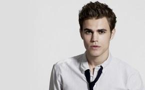 Картинка взгляд, лицо, мужчина, рубашка, Пол Уэсли, Paul Wesley, Vampire Diaries