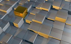 Обои геометрия, блеск, кубики