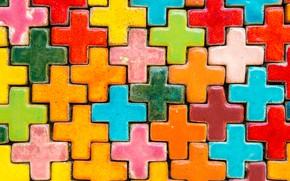 Картинка фон, плитка, крест, colorful, rainbow, цветная, texture, bright, tiles, ceramic, керамика