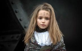 Картинка портрет, девочка, чумазая, Inès