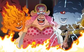 Картинка wallpaper, game, One Piece, pirate, hat, woman, anime, fight, face, captain, evil, asian, manga, Prometheus, …