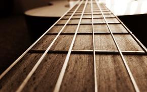 Обои гитара, музыка, макро