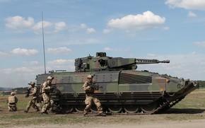 Картинка gun, soldier, weapon, tank, armored, seifuku, military vehicle, armored vehicle, armed forces, military power, 018, …