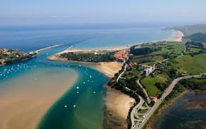 Картинка Испания, beach, Spain, boats, Cantabria, Страна Басков, Basque Country, San Vicente de la Barquera
