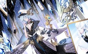 Картинка девушка, оружие, аниме, арт, Houseki no Kuni