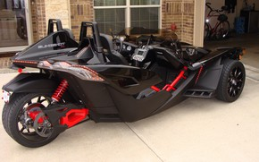 Картинка beautiful, comfort, hi-tech, Polaris, Slingshot, tecnology, sporty, 002, tricycle