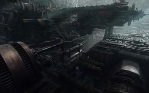 Картинка механизм, агрегат, Derelict Ship Interior