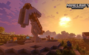Картинка game, Minecraft, route, arrow, checkered, indication, XBox One Edition