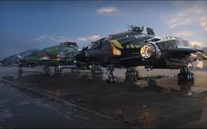 Картинка стоянка, летательный аппарат, Vanguard Variants