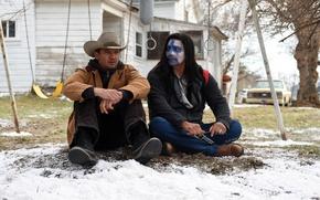 Картинка car, cinema, gun, weapon, snow, movie, film, revolver, Jeremy Renner, cowboy, Wind River