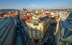 Картинка небо, city, город, фото, улица, вид, дома, Прага, Чехия, красиво, архитектура, путешествие, photo, улицы, Europe, ...
