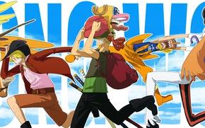 Картинка sword, game, Chopper, One Piece, pirate, anime, man, ken, Robin, Frank, manga, japanese, Nami, supernova, …