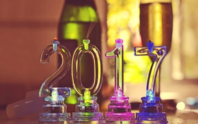 Картинка новый год, свечи, цифры, 2017