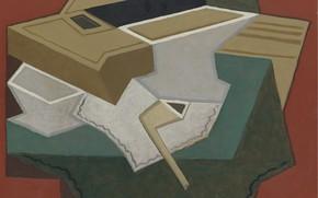 Картинка трубка, 1926, Juan Gris, Белая салфетка