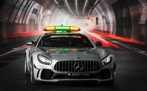 Картинка Mercedes-Benz, вид спереди, Formula 1, AMG, 2018, Safety Car, GT R