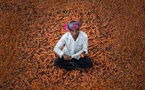 Картинка мужик, нож, морковь, марковка хочишь?