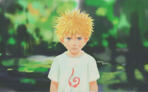 Картинка зелень, ребенок, naruto, art, Uzumaki Naruto, by 11strings