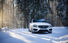Обои winter, amg, mercedes amg, мерседес бенц, smoke bomb, saint-petersburg, sport car, c450, mercedes c, mercedes ...