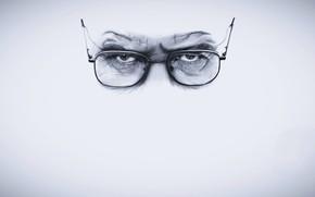 Обои Breaking Bad, глаза, Во все тяжкие, очки, Уолтер Уайт, Брайан Ли Крэнстон, Bryan Lee Cranston, ...