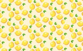 Обои вектор, цитрус, лимон, еда