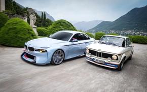 Картинка Concept, Авто, Ретро, BMW, Машина, Машины, Две, turbo, 2002, Новая, Старая, BMW 2002, BMW 2002 …