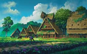 Картинка работа, растительность, строения, плантация, You reap what you sow