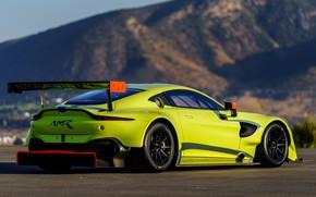 Обои Aston Martin, Vantage, гоночное авто, вид сзади, 2018, GTE