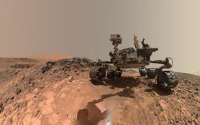 Обои Марсианская научная лаборатория, Кьюриосити, планета, марсоход, НАСА, Марс