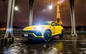 Картинка Париж, Lamborghini, Эйфелева башня, 2018, Urus