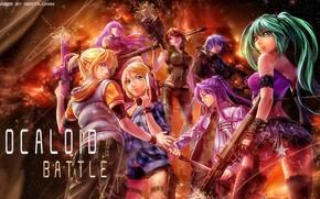 Картинка музыка, аниме, Vocaloid, певцы