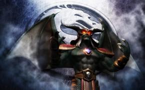 Картинка logo, game, monster, Mortal Kombat, fog, dragon, oni, by aemiliusresurrection, Dragon King Rising