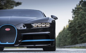 Картинка Bugatti, Blue, Black, VAG, W16, LED, Chiron, 0/400