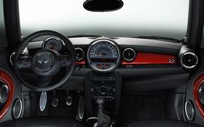 Картинка Mini, руль, салон, cooper, приборная панель