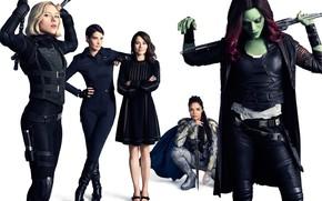 Обои фильм, Avengers: Infinity War, 2018, белый фон, девушки