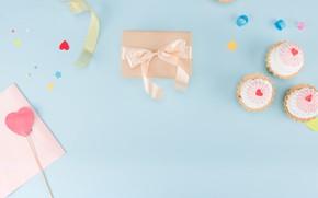 Картинка день рождения, подарок, Праздник, кексы
