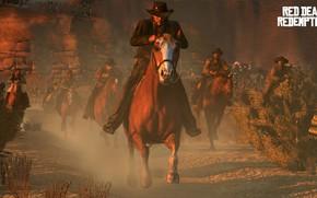 Картинка Ковбой, Дикий Запад, Red Dead Redemption, Rockstar Games, Cowboy, Wild West, Red Dead Redemption 2, …