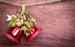 Картинка Новый Год, Рождество, колокольчики, merry christmas, decoration, xmas