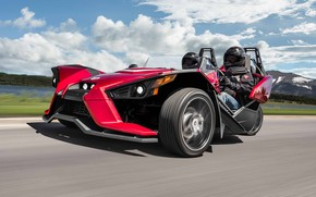 Картинка sky, cloud, comfort, hi-tech, Polaris, Slingshot, tecnology, sporty, kumo, tricycle