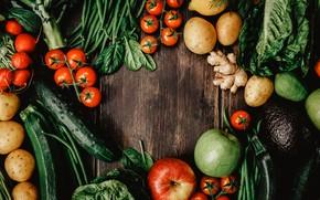 Картинка зелень, Овощи, фрукты