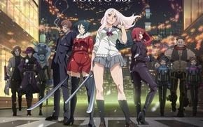 Картинка girl, anime, katana, ken, blade, asian, manga, japanese, oriental, asiatic, uniform, seifuku, Tokyo ESP