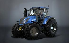 Картинка трактор, Farming Simulator 17, New Holland T5