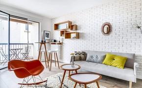 Картинка дизайн, стиль, интерьер, балкон, жилая комната