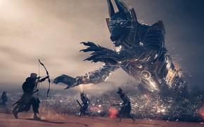 Картинка игра, арт, существа, Assassin`s Creed: Origins