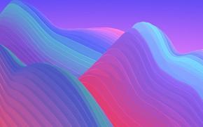 Картинка горы, краски, объем, слой