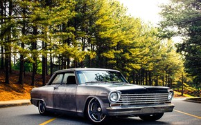 Обои Nova, 1963, Chevrolet, Wheels, Forgeline, Rodster