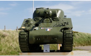 Картинка ww2, sherman tank, normandie, d-day, ww2 tank