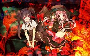 Картинка девушки, аниме, хеллоуин, коса смерти