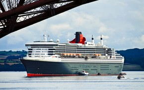 Картинка Лайнер, Судно, Queen Mary 2, Пассажирский, Пассажирский лайнер, Катера