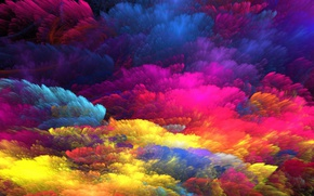 Обои background, rainbow, colorful, splash, colors, bright, painting, abstract, фон, краски